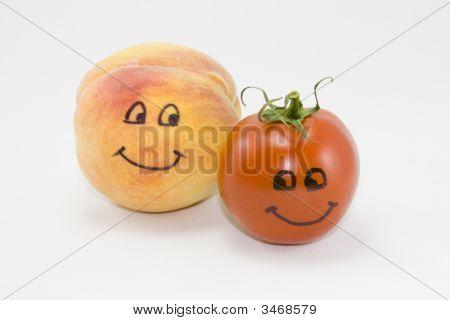 Animated Peach And Tomato.