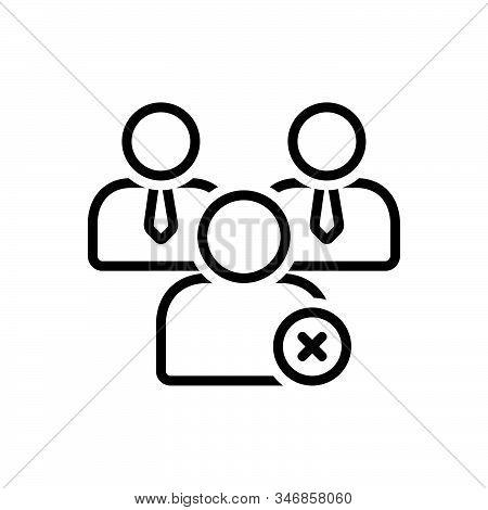Black Line Icon For Nonmember Outsider External Outlier Dismiss