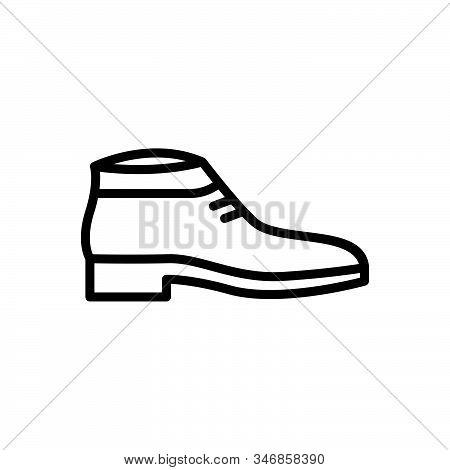 Black Line Icon For Shoes Fashion Trendy Sport Sneakers Footwear Wear Shoelace Workout Accessory