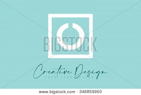 O Letter Icon Design With Creative Modern Look And Teal Background.  Vector Illustration.