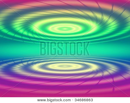 Abstract Color Concentric Circles