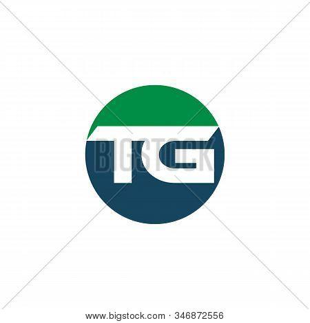 Letter Tg Or Gt Initial Logo Design In Vector