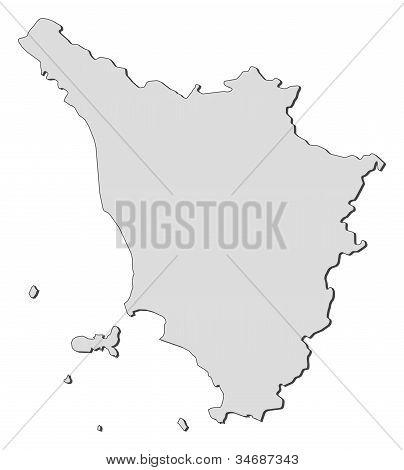 Map Of Tuscany (italy)