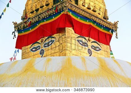 Stupa At Swayambhunath