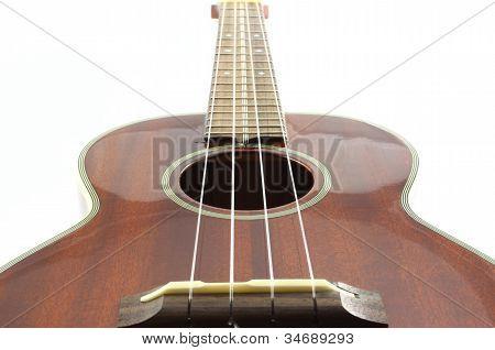 Tenor ukulele isolated on white