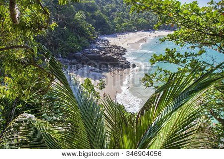 Phuket, Thailand- December 07, 2019: Tropical Landscape. Travel In Asia Concept. Scenery Of Beautifu
