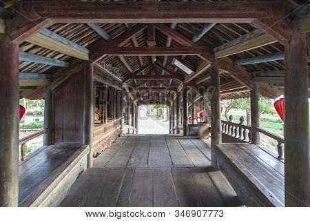 Old Japanese Bridge In Hue, Japanese Style Covered Bridge In Hue Vietnam