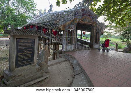 Hue,  Hue, 2019-06-26 : Old Japanese Bridge In Hue, Japanese Style Covered Bridge In Hue Vietnam