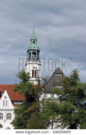 Steeple of town church, Celle