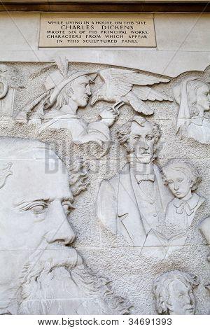 Charles Dickens Mural In London