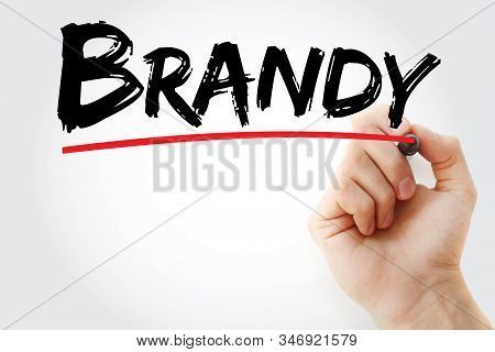 Brandy - Text With Marker, Concept Background