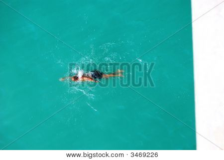 Swimmer In The Sea