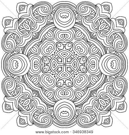 Geometric Design Square, Mosaic Of A Vector Kaleidoscope. Diwali Celebration. A Traditional Indian S