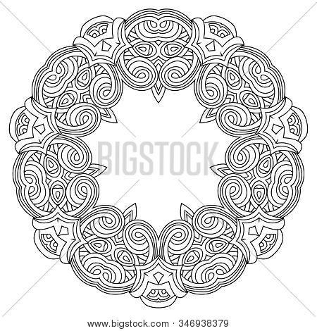 Geometric Mandala. Decorative Vector Element. Design, Mosaic Of A Vector Kaleidoscope. Diwali Celebr