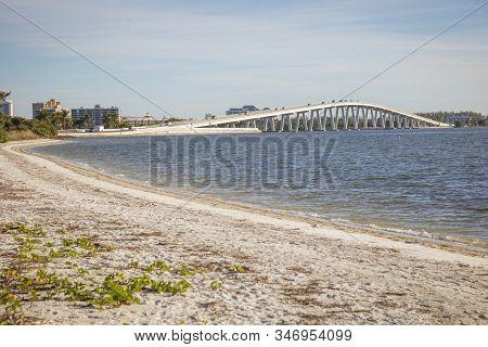 Bridge To Sanibel Island. Sanibel, Florida, Usa.
