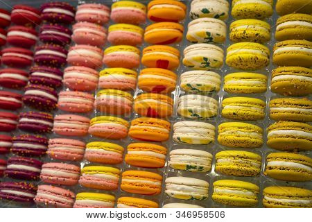 Macaron - French Confection Made From Egg Whites, Sugar And Ground Almonds.sweet Treat For The Holid