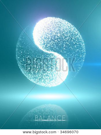 """High-quality """"ying yang"""" concept. Illustration is divided into layers for comfortable editing. RGB color space. Eps 10."""