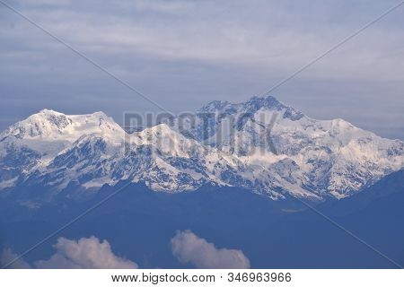 Range Of Kanchenjunga, Late Afrernoon View From Darjeeling, West Bengal, India
