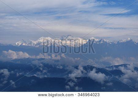 Range Of Kanchenjunga, View From Darjeeling, West Bengal, India