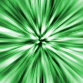Speed decorative background in green lights and shadows poster