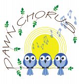 Dawn chorus twig text isolated on white background poster