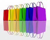Colours of Shopping - Colours shopping bags poster