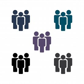 People Vector Icon. Person Symbol. Work Group Team. Persons Crowd Vector Illustration Icon. Group Of