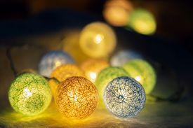 Led Light For Decoration Antique Background. Led Lights Background. Led Light Bulbs Background. Led