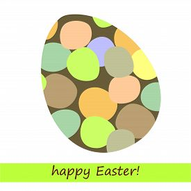 Simple Vector Illustration With Abstract Easter Egg.