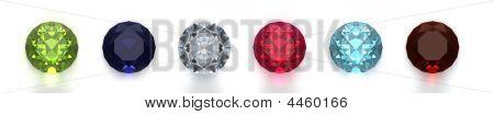 Gems Isolated On White Background