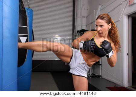 Woman Mma Kick