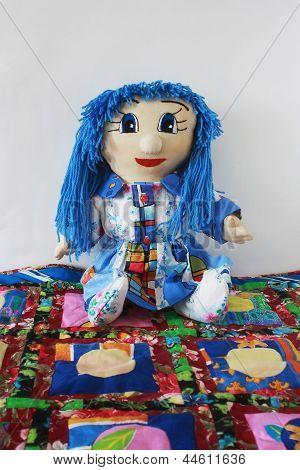 Patchwork Doll Quilt Rug.