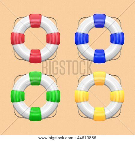 Set Of Lifebuoy