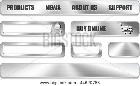 Metallic Website Design Elements