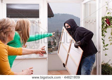 Masked Burglar Is Observed