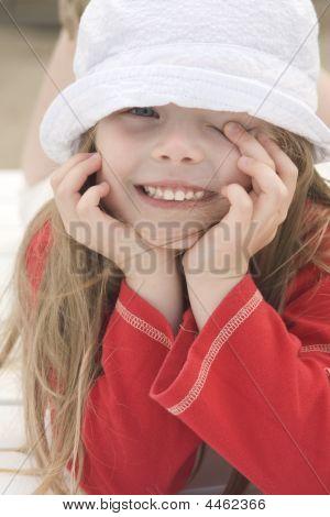 Portrait Of A Beautiful Girl In Hat Iii