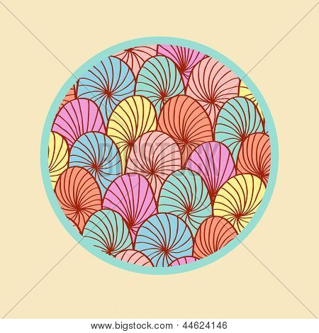 Abstract colorful round design element