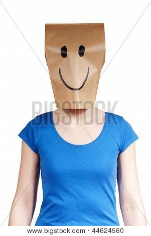 Happy Paper Bag Person