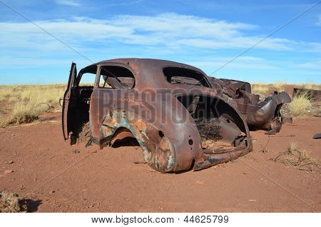 Old Abandoned Car Wreck
