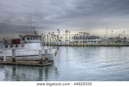 Dramatic Hdr Image Boat Harbor