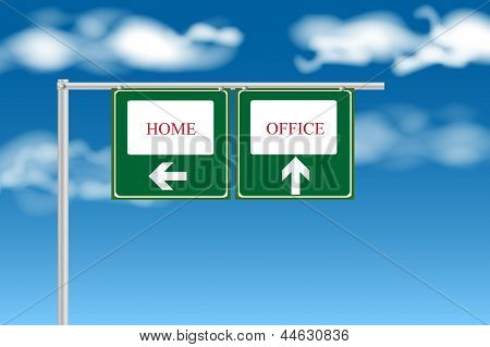 Home Or Office Sign