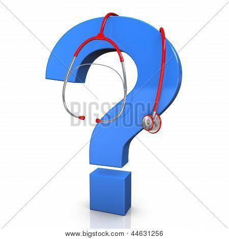 Stethoskop-Fragezeichen