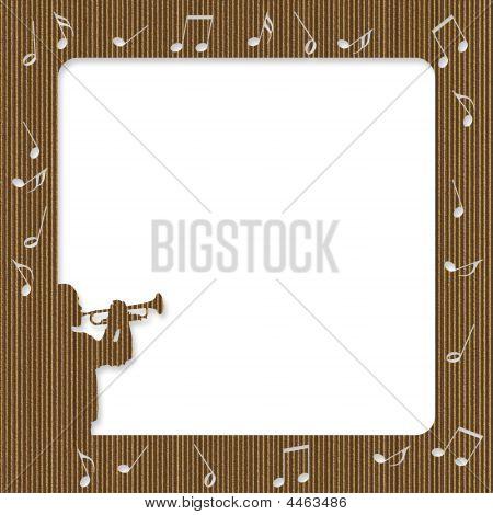 Cardboard Trumpet Player Frame