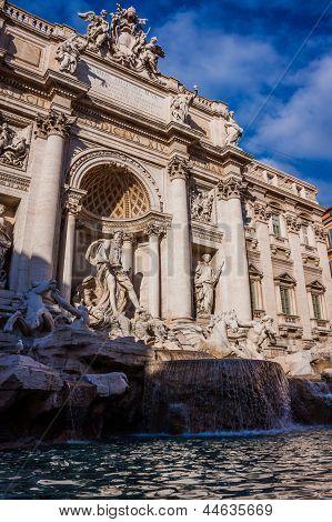 Trevi Fountain - Famous Landmark In Rome