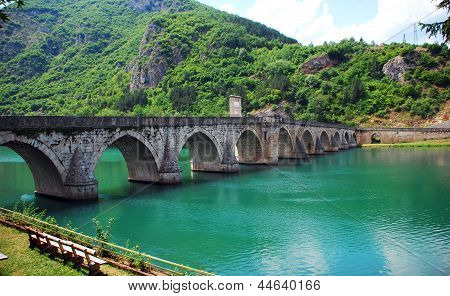 Mehmed pasa sokolovic brigde on the Drina river