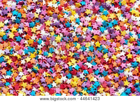 Colorful Sweet Sugar Decoration Isolated