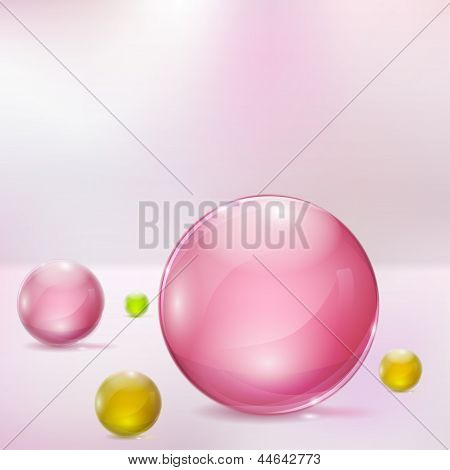 Abstract Background With Glass Spheres