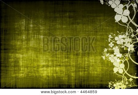 A Grunge Floral Decor Old Texture Background poster