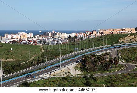 Highway In Algeciras, Spain