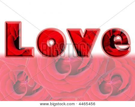 Word Of Love - Red Roses Design